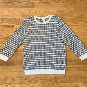 J Crew Dot-Dash three quarter sleeve sweater